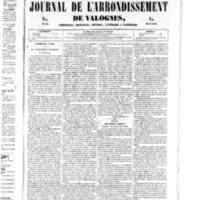 Le Journal de l'arrondissement de Valognes, numéro du 02 août 1850