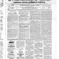 Le Journal de l'arrondissement de Valognes, numéro du 28 avril 1865