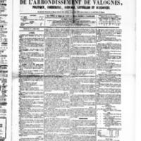 Le Journal de l'arrondissement de Valognes, numéro du 16 avril 1880