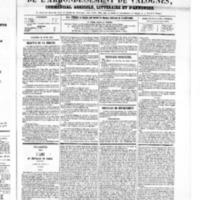 Le Journal de l'arrondissement de Valognes, numéro du 21 avril 1865