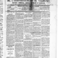 Le Journal de l'arrondissement de Valognes, numéro du 22 mars 1889