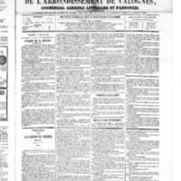Le Journal de l'arrondissement de Valognes, numéro du 07 juillet 1865