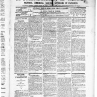 Le Journal de l'arrondissement de Valognes, numéro du 11 avril 1890