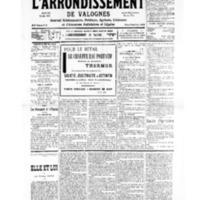 Le Journal de l'arrondissement de Valognes, numéro du 20 juillet 1935