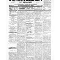 Le Journal de l'arrondissement de Valognes, numéro du 26 octobre 1935