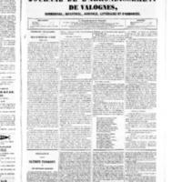 Le Journal de l'arrondissement de Valognes, numéro du 20 septembre 1850