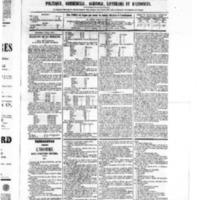 Le Journal de l'arrondissement de Valognes, numéro du 09 avril 1875