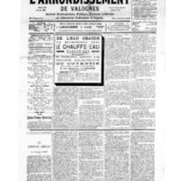 Le Journal de l'arrondissement de Valognes, numéro du 07 avril 1934