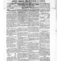 Le Journal de l'arrondissement de Valognes, numéro du 26 novembre 1886