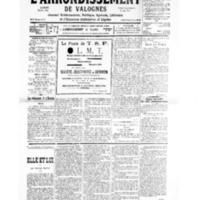 Le Journal de l'arrondissement de Valognes, numéro du 20 avril 1935