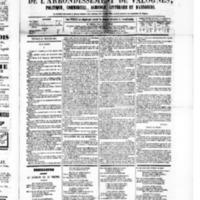 Le Journal de l'arrondissement de Valognes, numéro du 20 février 1880