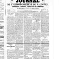 Le Journal de l'arrondissement de Valognes, numéro du 10 octobre 1856