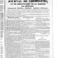 Le Journal de Cherbourg et du département de la Manche, numéro du 29 septembre 1833
