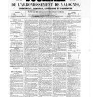 Le Journal de l'arrondissement de Valognes, numéro du 12 août 1859