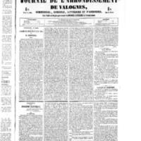 Le Journal de l'arrondissement de Valognes, numéro du 06 août 1852