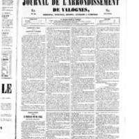 Le Journal de l'arrondissement de Valognes, numéro du 08 mars 1850