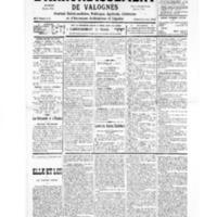 Le Journal de l'arrondissement de Valognes, numéro du 17 août 1935