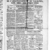 Le Journal de l'arrondissement de Valognes, numéro du 17 septembre 1880