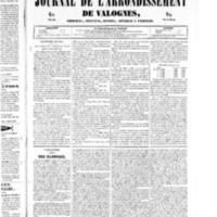 Le Journal de l'arrondissement de Valognes, numéro du 15 mars 1850