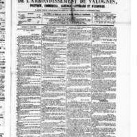 Le Journal de l'arrondissement de Valognes, numéro du 09 avril 1880