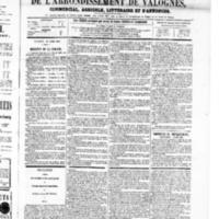 Le Journal de l'arrondissement de Valognes, numéro du 26 avril 1867