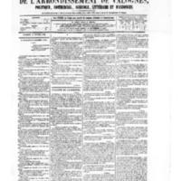 Le Journal de l'arrondissement de Valognes, numéro du 14 février 1879
