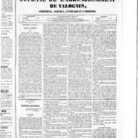 Le Journal de l'arrondissement de Valognes, numéro du 06 février 1852