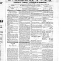 Le Journal de l'arrondissement de Valognes, numéro du 13 octobre 1865
