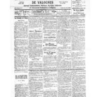 Le Journal de l'arrondissement de Valognes, numéro du 21 octobre 1939