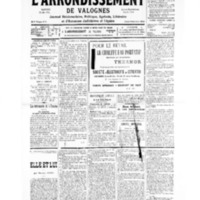 Le Journal de l'arrondissement de Valognes, numéro du 06 juillet 1935