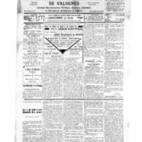 Le Journal de l'arrondissement de Valognes, numéro du 29 décembre 1934
