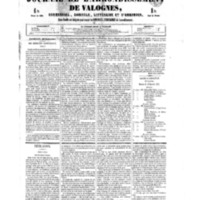 Le Journal de l'arrondissement de Valognes, numéro du 29 septembre 1854