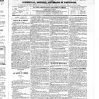 Le Journal de l'arrondissement de Valognes, numéro du 21 juillet 1865