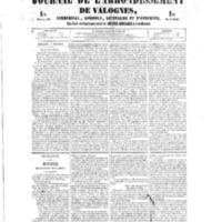 Le Journal de l'arrondissement de Valognes, numéro du 08 décembre 1854