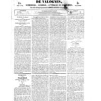 Le Journal de l'arrondissement de Valognes, numéro du 13 janvier 1854