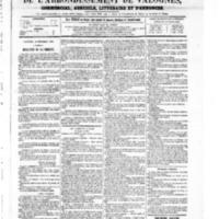 Le Journal de l'arrondissement de Valognes, numéro du 18 septembre 1868