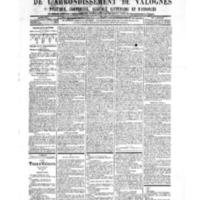 Le Journal de l'arrondissement de Valognes, numéro du 10 novembre 1905