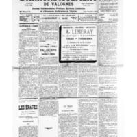Le Journal de l'arrondissement de Valognes, numéro du 07 décembre 1935