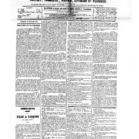Le Journal de l'arrondissement de Valognes, numéro du 27 octobre 1882