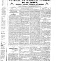Le Journal de l'arrondissement de Valognes, numéro du 23 juillet 1852