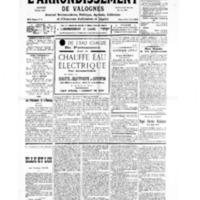 Le Journal de l'arrondissement de Valognes, numéro du 08 juin 1935