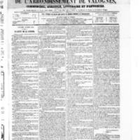 Le Journal de l'arrondissement de Valognes, numéro du 20 mars 1868