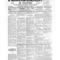 Le Journal de l'arrondissement de Valognes, numéro du 30 septembre 1939