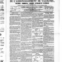 Le Journal de l'arrondissement de Valognes, numéro du 21 mai 1880