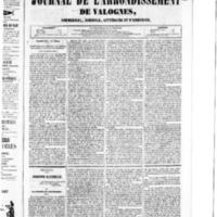 Le Journal de l'arrondissement de Valognes, numéro du 19 mars 1852