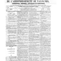 Le Journal de l'arrondissement de Valognes, numéro du 26 juillet 1867