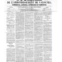 Le Journal de l'arrondissement de Valognes, numéro du 18 mars 1859