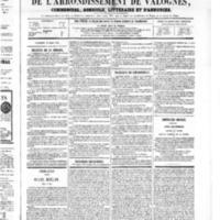 Le Journal de l'arrondissement de Valognes, numéro du 31 mars 1865