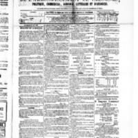 Le Journal de l'arrondissement de Valognes, numéro du 14 mai 1880
