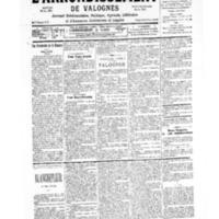 Le Journal de l'arrondissement de Valognes, numéro du 16 décembre 1939